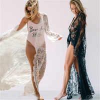 Sexy Femmes Dentelle Maille Creuse Robe de Nuit Robe Transparente Longue Maxi Sous-Vêtements Lingerie Lingerie de nuit babydoll Vêtements De Nuit Robe de Nuit