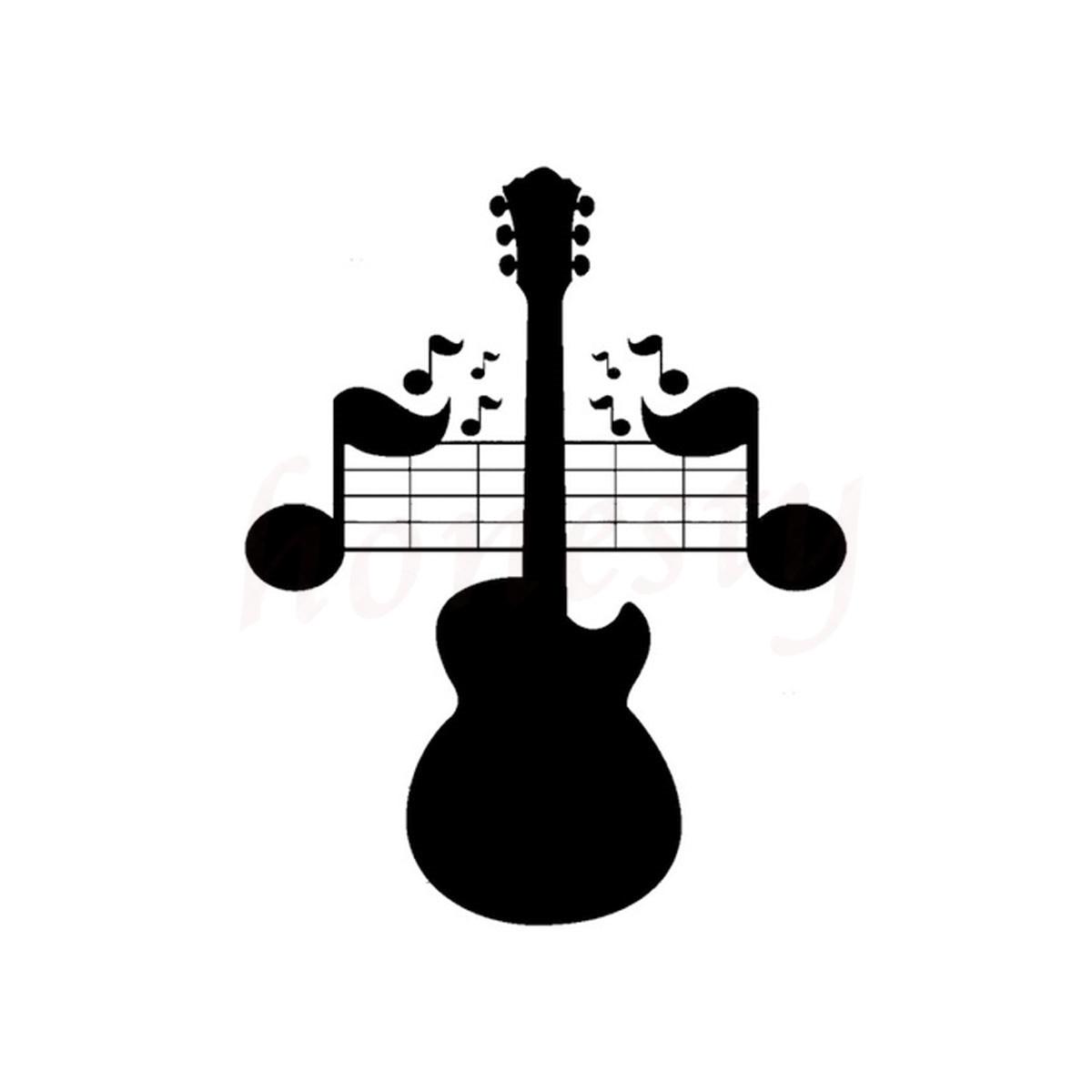 Guitar Music Note Decor Car Sticker Wall Home Glass Window