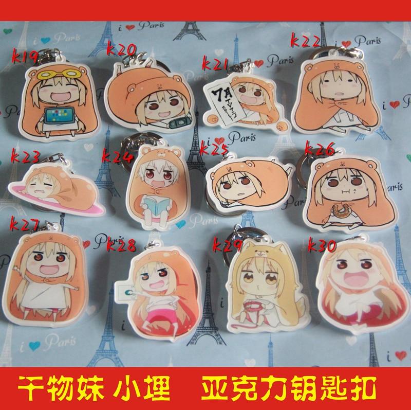 Anime Himouto Umaru-chan Umaru Doma Cartoon Acrylic Keychain Keyring Figure Charm Pendant Chains Gift Cosplay Props
