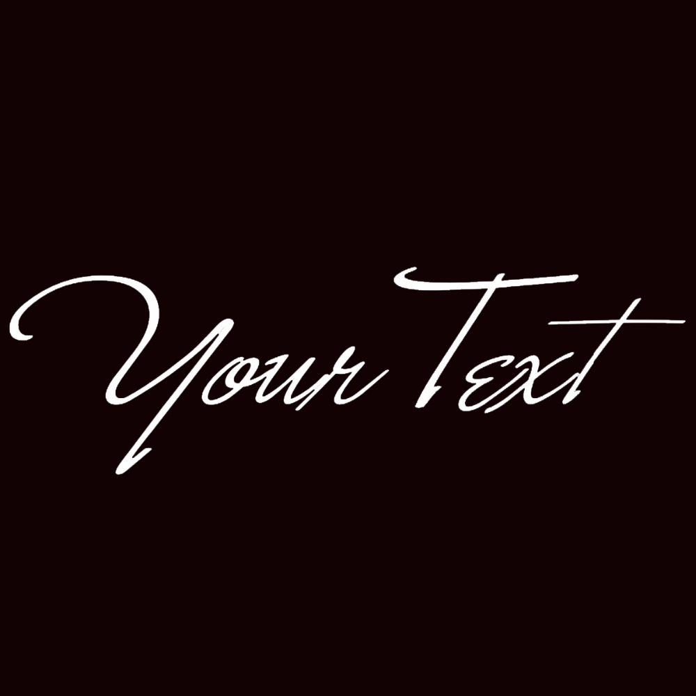 """Your Text Vinyl Decal Sticker Car Window Bumper CUSTOM 7/"""" Personalized Lettering"""