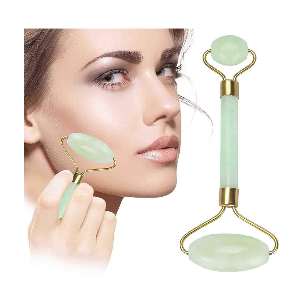 Premium Face Jade Roller, Facial Roller Massager, Natural Tool For Eye, Neck, Skin, Body Slimming, Anti-Aging Anti-Puffiness