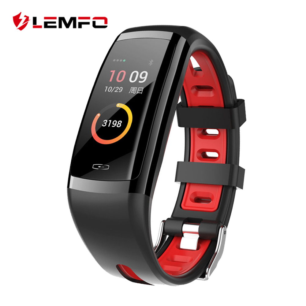 LEMFO New Healthy Smart Band Blood Pressure And Heart Rate IP67 Waterproof Bracelet Sport Watch Fitness Tracker For Men Women