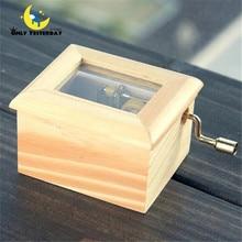 Good Quality Music Box Wood Made Hand Cranked Music Box caixa de musica ,Kids Toys Musical Box YYH01