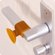Practical Door Handle Silicone Anticollision Sucker Home Protecting Pad Mute Silencer Suction Stops Mats 1PC