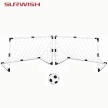 Surwish New arrival Set of 2 DIY White Youth Sports Soccer Goals with Soccer Ball and