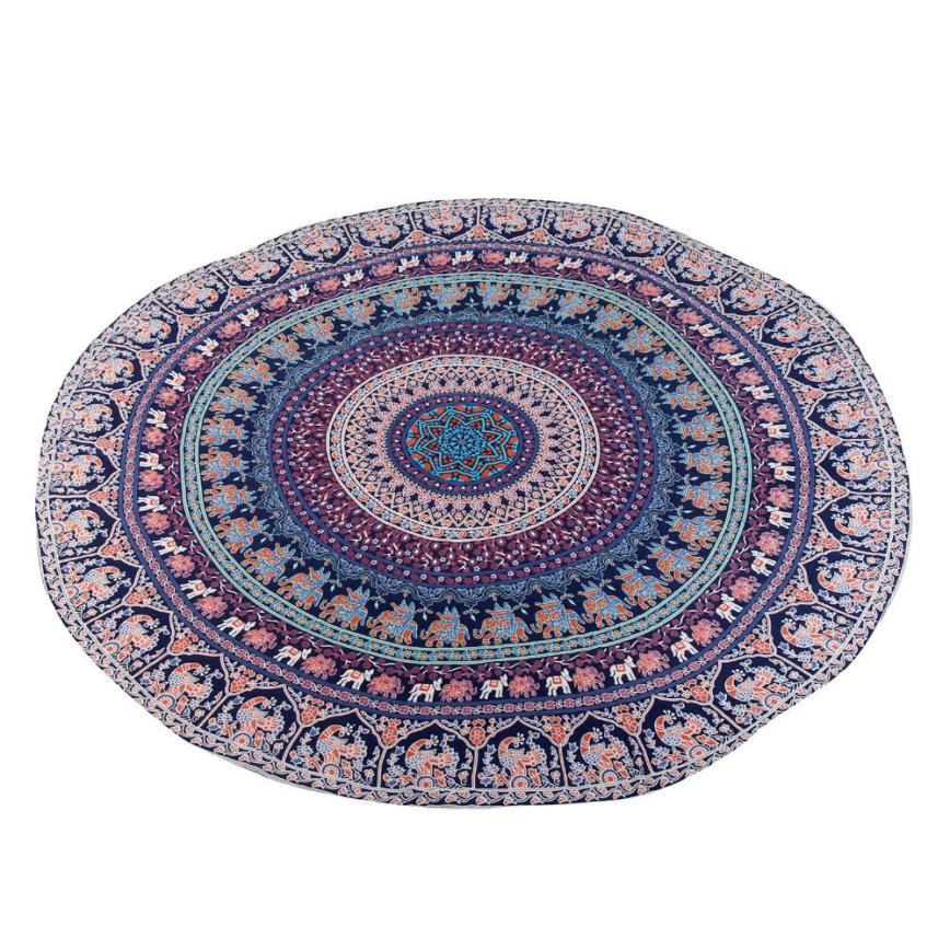 150CM Round Beach Towel Pool Home Shower Towel Blanket Table Cloth Yoga Mat 2JY28