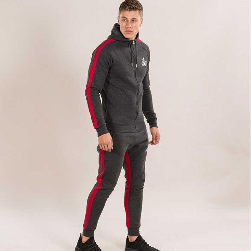 5e9a2d20 Для мужчин s спортивные костюмы работает набор Для мужчин тренажерный зал спортивной  одежды спортивный костюм Фитнес