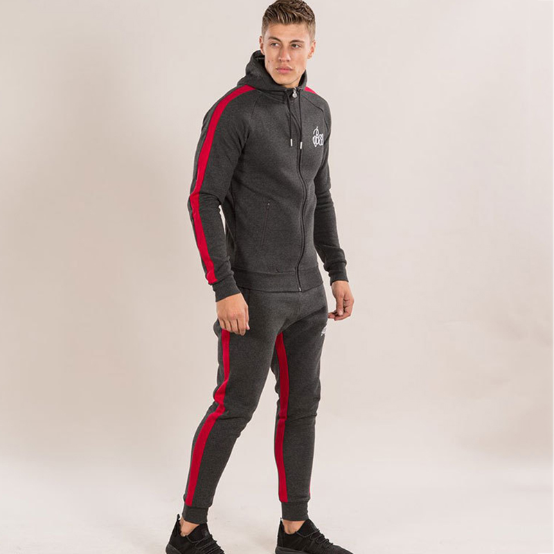 details for incredible prices top design Mens Sports Suits Running Set Men Gym Sportwear Tracksuit ...