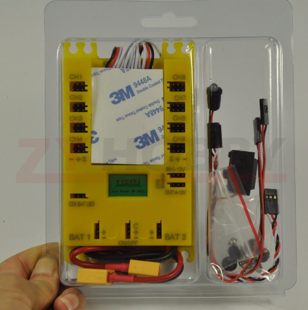 Mini potencia DP 20A Ubec 7-13VServo sección tablero LED pantalla ESTADOS DE TRABAJO