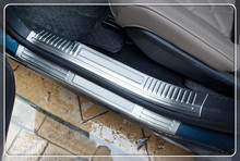 Для Peugeot 5008 GT 2017 8 шт./компл. нержавеющей порога Накладка протектор отделка автомобильные аксессуары