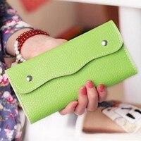Women Wallets High Quality Leather Long Pattern Clutch Hasp Money Purse