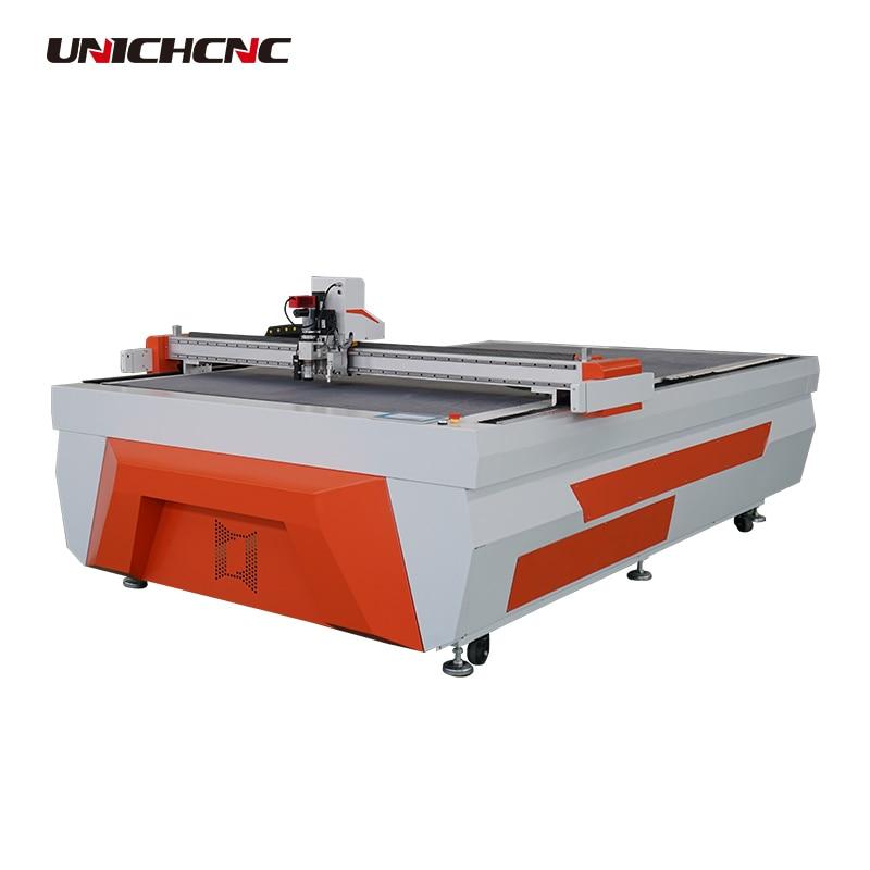Curtain PVC Cloth Leather Car Mat Cutting Machine 1600*2500mm Vibrating Knife