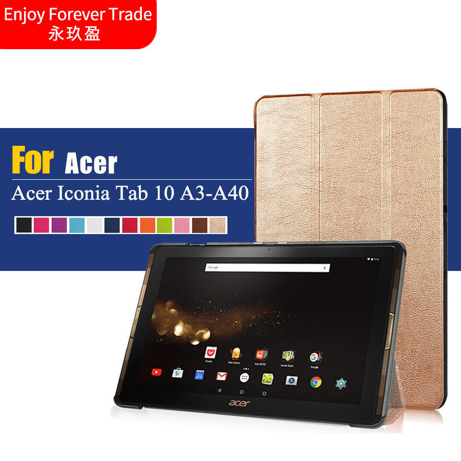 new arrival hot luxury cover for acer iconia tab 10 a3 a40 pu cover protective case for 2016. Black Bedroom Furniture Sets. Home Design Ideas