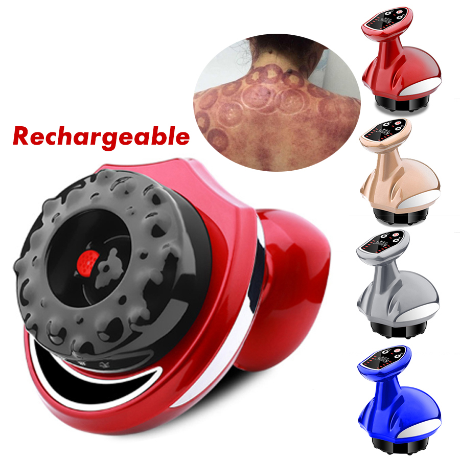 Electric Cupping Massager Suction Vacuum Magnet Therapy Guasha Scraping Massage Stimulate Acupoint Body Slimming Rechargeable