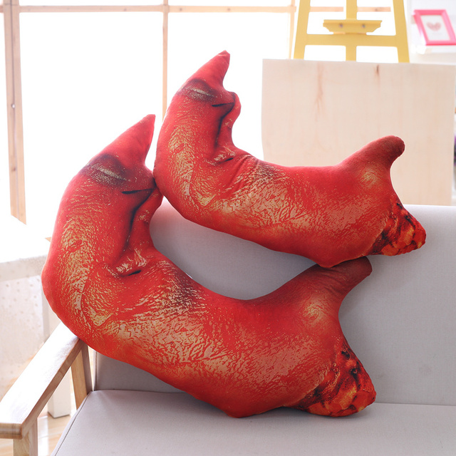 25 50c Creative Pigu0027s Feet Plush Pillow Stuffed Cute Trotters Toy Sofa  Pillow Cushion Funny