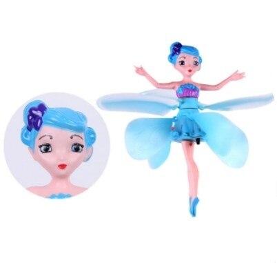 Hada voladora mágica princesa muñecas lindas juguete infrarrojo inducción RC helicóptero volador Quadcopter Drone muñecas niños juguetes mejores regalos
