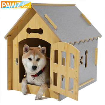 Dog Solid Wood House Bed