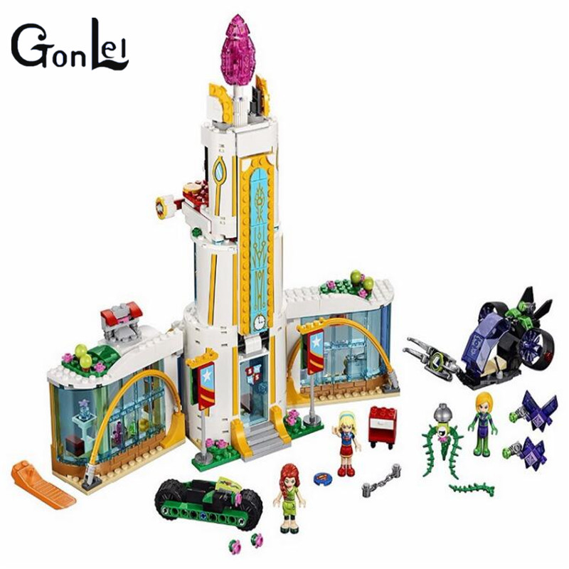 GonLeI 2017 NEW 10618 DC Super Hero Girls High School Building Block kids DIY Educational bricks Toys Gift With Lepin 41232 конструктор bela super hero girls школа супергероев 719 дет 10618