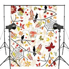 150x210cm Beautiful Autumn Floral Pattern Photography Backdrop Abstract Tree Branch Background Photo Studio Props Wall