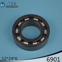 6901 Full Ceramic Bearing ( 1 PC ) 12*24*6 mm Si3N4 Material 6901CE All Silicon Nitride Ceramic 6901 Ball Bearings