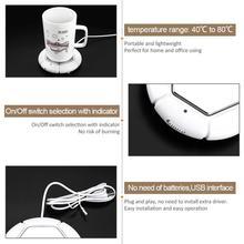 5V USB Powered Cup Warmer Pad Desktop Coffee/Tea Cup Mug Warmer Beverage Heater Tray Pad