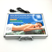 16pcs/lotBest selling body Massage Lava Natural Energy Stones Spa Equipment Set Rock Basalt Hot Stone With Heater Box