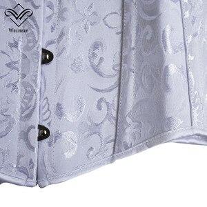 Image 5 - Корсет, сексуальные корсеты и бюстье, корсаж для похудения, корсет большого размера со стальными костями, длинный корсет, XS 6XL