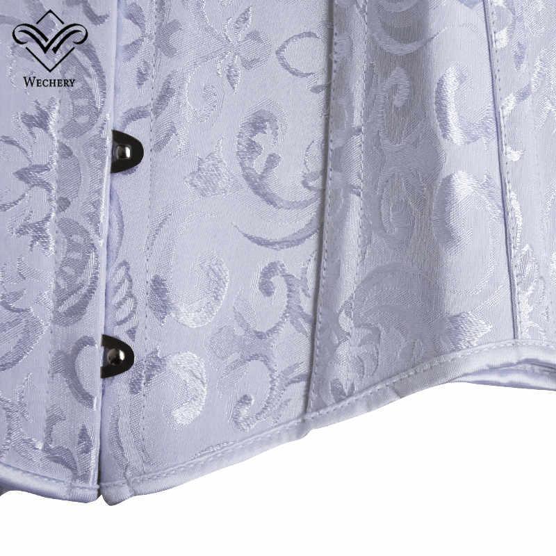Корсет сексуальный корсеты и бюстье с эффектом похудения сексуальный корсаж, корсет плюс размер стальной Boned Длинный Торс Straitjacket XS-6XL