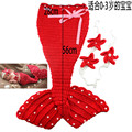 2016 new fashion pure wool hand-knit baby mermaid baby clothes artistic photos pictures