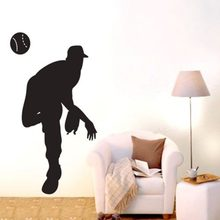 Baseball Pitcher Car Windows Sticker Name Sports Decal Posters Vinyl Wall Decals Decor Mural