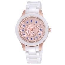 2019 New Fashion Simple Crystal Ladies Watch Ceramic Strap Waterproof Multi function Quartz Ladies Watch Ladies Gift Reloj Mujer