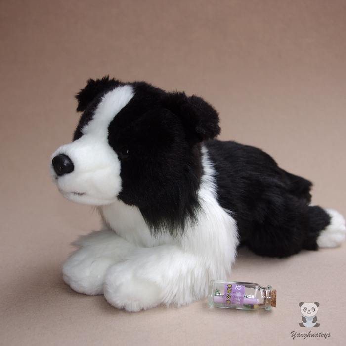 Cute Kids Toys Birthday Gifts Simulation Border Collie Dogs Doll Plush Toy Dolls Ornaments simulation rare birds puffin doll plush toy wild animals dolls ornaments children s toys gifts