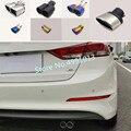 Для Hyundai Elantra 2016 2017 2018 Автомобильная задняя крышка из нержавеющей стали глушитель выхлопная труба 1 шт.