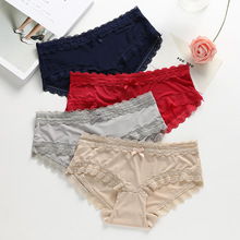 Comfortable Satin Panties For Women Soft Lace Ladies Underwear Sexy Lingerie Hot Selling PY-7