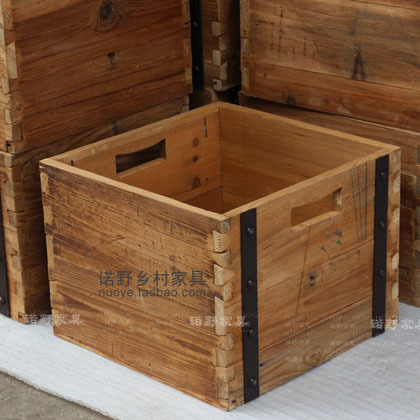 Export Single American Country Style May Stacking Storage Bins Wooden Bo Square Bucket Countryside House Furniture