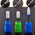 1 x M size Nail Drill - Ceramic Foot Bit - White Nail Bit Nail Art Salon Drill Manicure File Nail Art Tool NC189