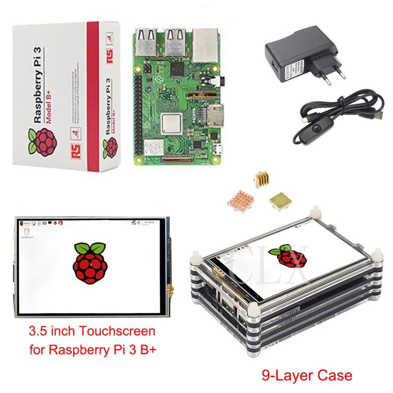 Raspberry Pi 3 B Plus Starter Kit Raspberry Pi 3 3 5 inch Touchscreen 9 layer
