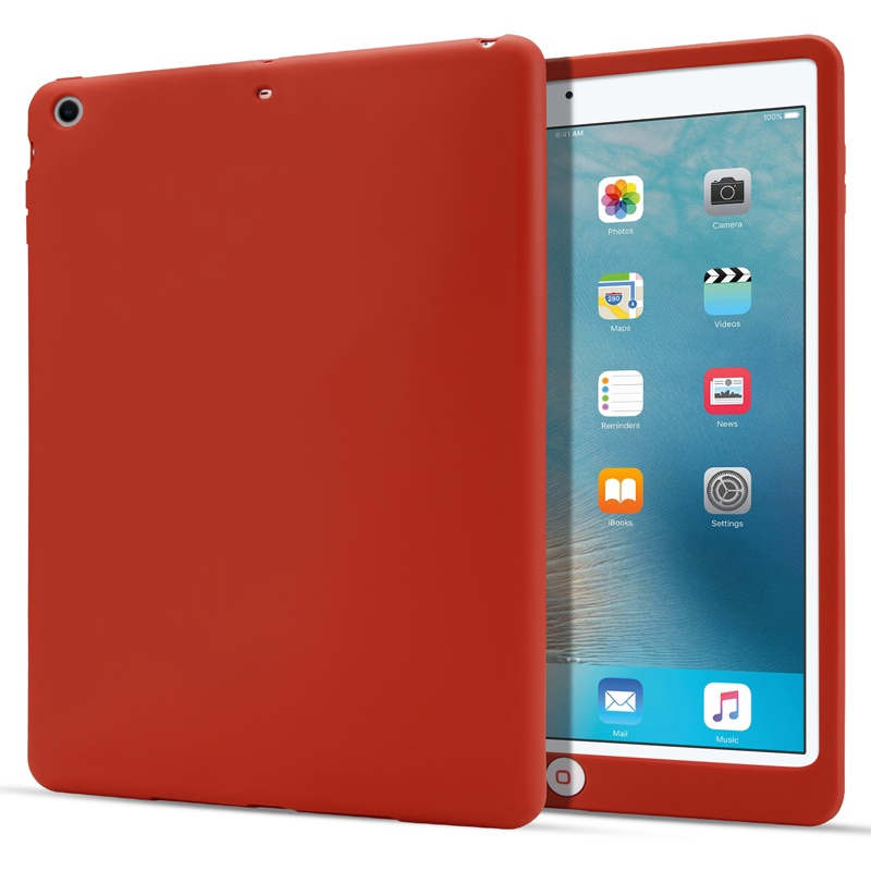 Per Apple iPad 9.7 2018 antiurto Con Protezione Caduta Cover Custodia in Silicone Nero