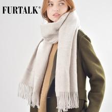 FURTALK wool women winter scarf cashmere pashmina scarves luxury brand for girls SFFW020