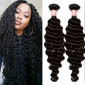 Deep Wave Brazilian Hair Curly Brazilian Virgin Hair Weave Bundles Wavy Human Hair Extensions Sunny Queen Hair Products