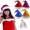 Фантазии 5 Цвет Новый Arrial Рождественские Блесток Шляпа Шапка Санта-Клауса Отец Рождество Caps Hat Рождественский Подарок Украшения Украшения L3