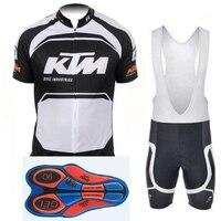2017 KTM Ciclismo Jersey uomini ciclismo abbigliamento set traspirante bike maglie bicicletta Mountain mtb abbigliamento abbigliamento ropa ciclismo 9D GEL