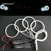 Free Shipping 4pcs per set CCFL angel eyes headlight halo ring 110mm 115mm colorful angel eyes for projector lens car headlights
