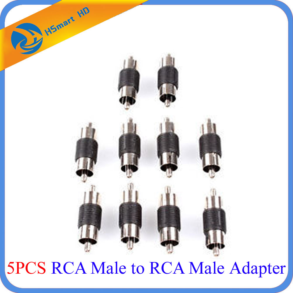 5pcs RCA Male to RCA Male Adapter/Converter for CCTV Microphone Audio Pick Car Camera Accessories SD Card MDVR CCTV System car usb sd aux adapter digital music changer mp3 converter for skoda octavia 2007 2011 fits select oem radios