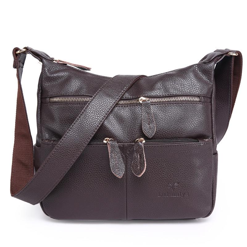 2018 Fashion Women Messenger Bags COMPOSITE GENUINE LEATHER Women's Handbag Women Bag Vintage Ladies Tote Crossbody Shoulder Bag цены