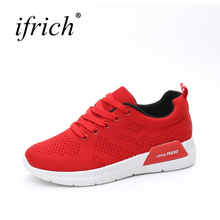 Ifrich New Arrival Different Colors Ladies Jogging Shoes Mesh Breathable Walking Women Shoes Lace Up Ladies Sports Sneakers