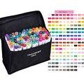 TOUCHNEW 168 цветов на выбор, набор маркеров для эскизов с спиртовыми чернилами, ручка для рисования манги, дизайнерские принадлежности для анима...