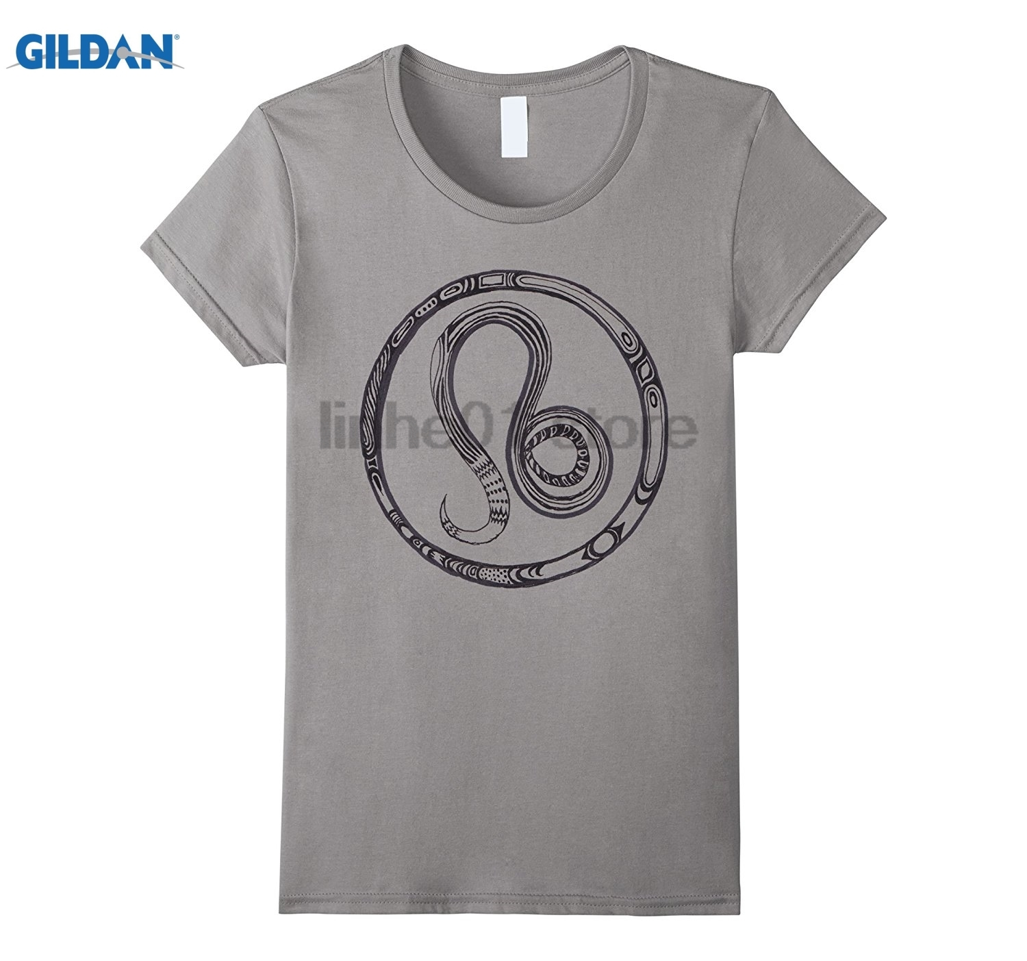 GILDAN Horoscope Leo Symbol Zodiac Sign T-Shirt Dress female T-shirt ...