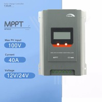 Y SOLAR MPPT 40A Solar Charge Controller 12V/24V Auto Solar Panel Battery Charge Regulator with LCD Display Four Charging MT4010