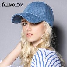 New High Quality Denim Cap Hats for Women Men Cotton Casual Stripe Blue Color Cowboy Caps Boy and Girl Hat Wholesale